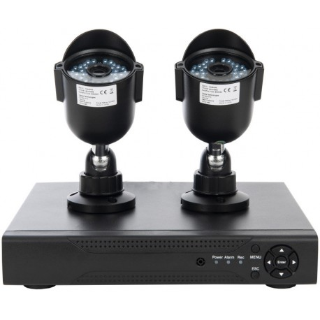 Xenta 4CH DVR 1080p with 2 Black Bullet Cameras